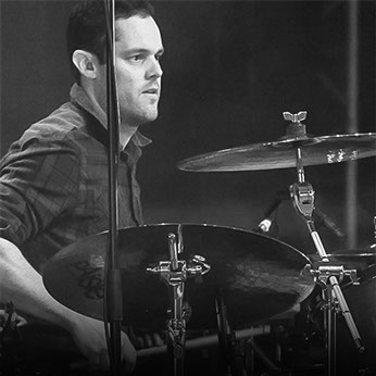 Drummer with Scouting for Girls, Peter Ellard, uses Gig Grips drum stick grips on tour and on recordings.